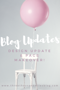 blog makeover and updates
