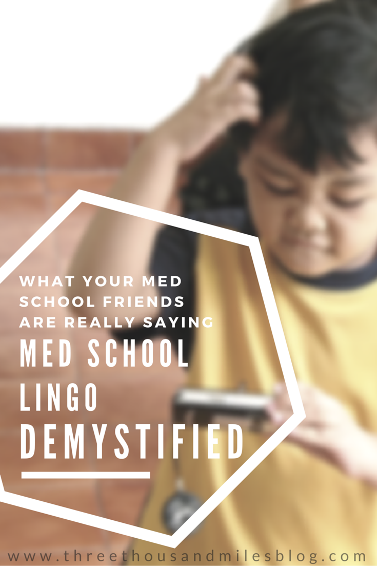 Med School Lingo Demystified