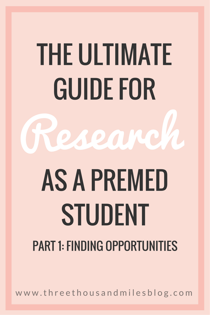 premed research opportunities
