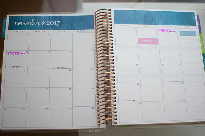 erin condren life planner 2017-2018 review, three thousand miles blog, organization in medical school, Erin Condren life planner medical school-12