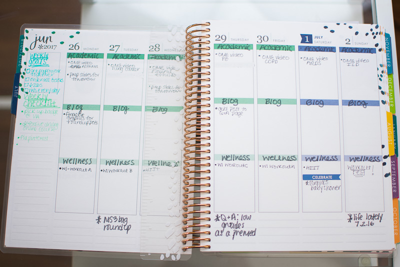 erin condren life planner 2017-2018 review, three thousand miles blog, organization in medical school, Erin Condren life planner medical school-54