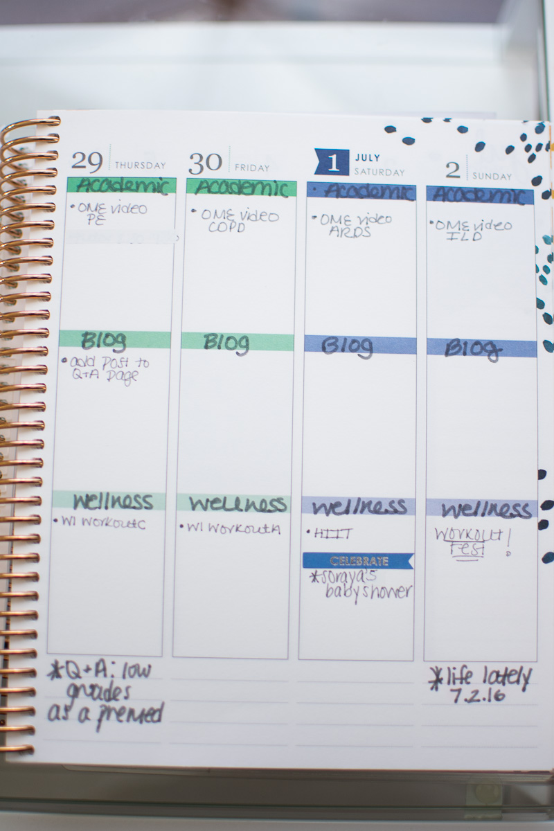 erin condren life planner 2017-2018 review, three thousand miles blog, organization in medical school, Erin Condren life planner medical school-56